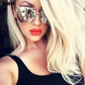 Women's Gold Mirrored Pilot Sunglasses